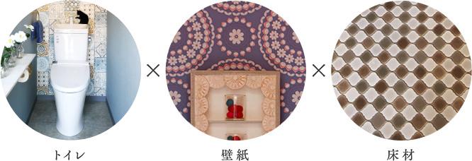 トイレ×壁紙×床材
